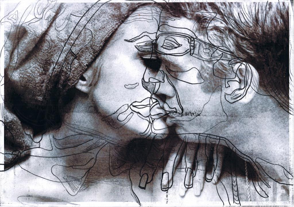 dominique théate, *sans titre*, 2013. graphite sur papier, 29.7 x 42 cm. - © christian berst art brut, christian berst — art brut