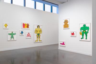 stand de la galerie parker, *independent art fair*, new york, états-unis, 2020. - © parker gallery, christian berst — art brut