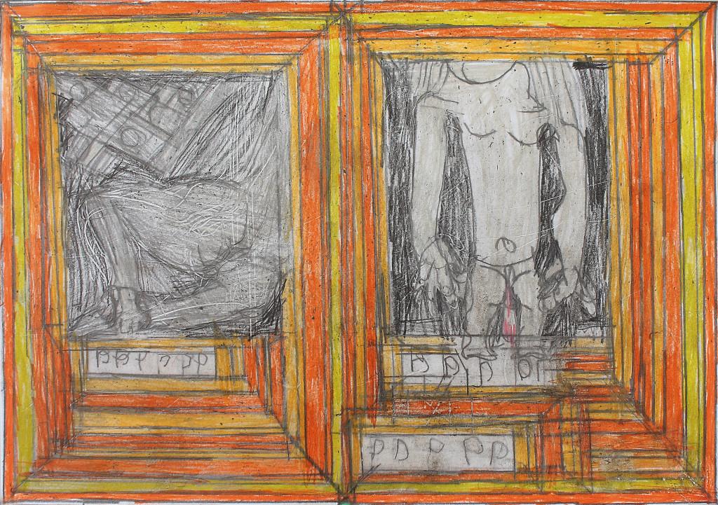 josef hofer, *untitled*, 2010. coloured pencil on paper, 11.65 x 16.54 inc - © christian berst art brut, christian berst — art brut