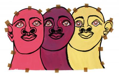 misleidys castillo pedroso, *sans titre*, circa 2015. gouache sur papier, 43.5 x 70 cm. - © christian berst art brut, christian berst — art brut