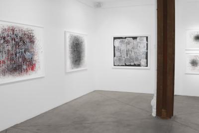 Exhibition view of *Dan Miller : graphein*, christian berst art brut, Paris, 2012 - © ©christian berst art brut, christian berst — art brut