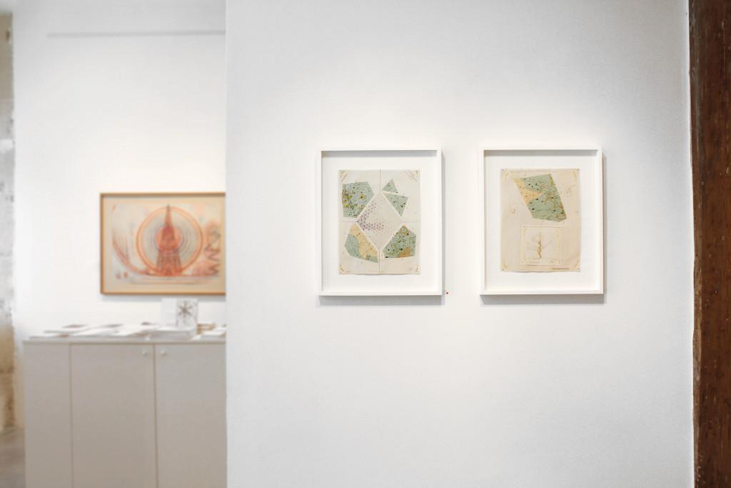 Exhibition view of *John Devlin : nova cantabrigiensis*, christian berst art brut, Paris, 2013 - © ©christian berst art brut, christian berst — art brut