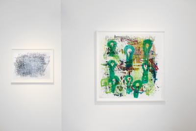 Exhibition view of *Dan Miller : graphein II*, christian berst art brut, Paris, 2014 - © ©christian berst art brut, christian berst — art brut