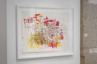 Exhibition view of *Dan Miller : graphein II*, christian berst art brut, Paris, 2014 - © ©christian berst art bru, christian berst — art brut