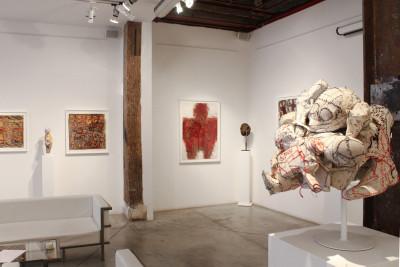 Exhibition view of *Michel Nedjar : momentum*, christian berst art brut, Paris, 2014 - © ©christian berst art brut, christian berst — art brut