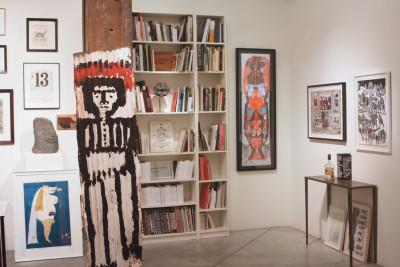 Vue de l'exposition *Soit dix ans : états intérieurs*, christian berst art brut, Paris, 2015 - © ©christian berst art brut, christian berst — art brut