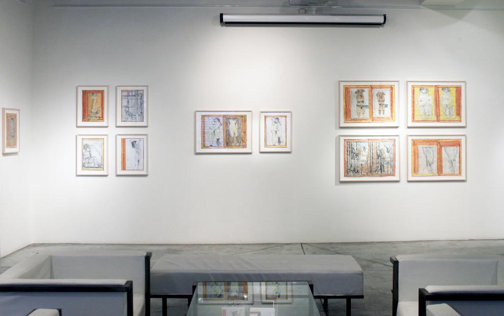 Exhibition view of *Josef Hofer : transmutations*, christian berst art brut, Paris, 2015. - © christian berst art brut, christian berst — art brut