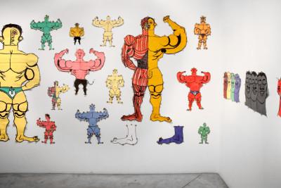Vue de l'exposition *Fuerza Cubana : Misleidys Castillo Pedroso & Daldo Marte*, christian berst art brut, Paris, 2016 - © ©christian berst art brut, christian berst — art brut