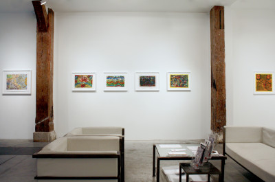 Exhibition view of *Alexandro Garcia : no estamos solos II*, christian berst art brut, Paris, 2016. - © christian berst art brut, christian berst — art brut