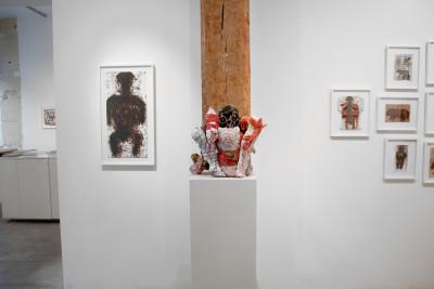 exhibition view of *michel nedjar : crossroads*, christian berst art brut, paris, 2017. - © christian berst art brut, christian berst — art brut