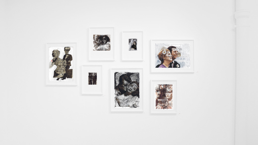 Vue de l'exposition *Dominique Théâtre : in the mode for love*, christian berst art brut, Paris, 2017. - © christian berst art brut, christian berst — art brut