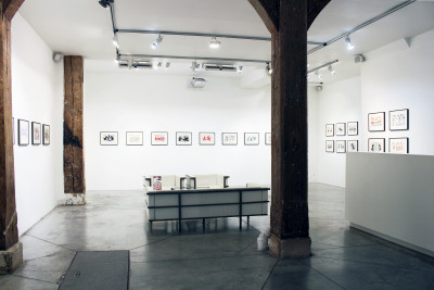 exhibition view of  *john ricardo cunningham : otro mundo*, christian berst art brut, paris, 2018. - © christian berst art brut, christian berst — art brut