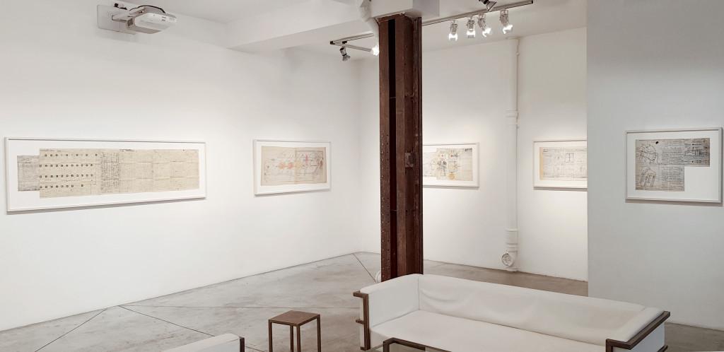 exhibition view of *jean perdrizet : deus ex machina #2*, christian berst art brut, paris, 2018. - © christian berst art brut, christian berst — art brut