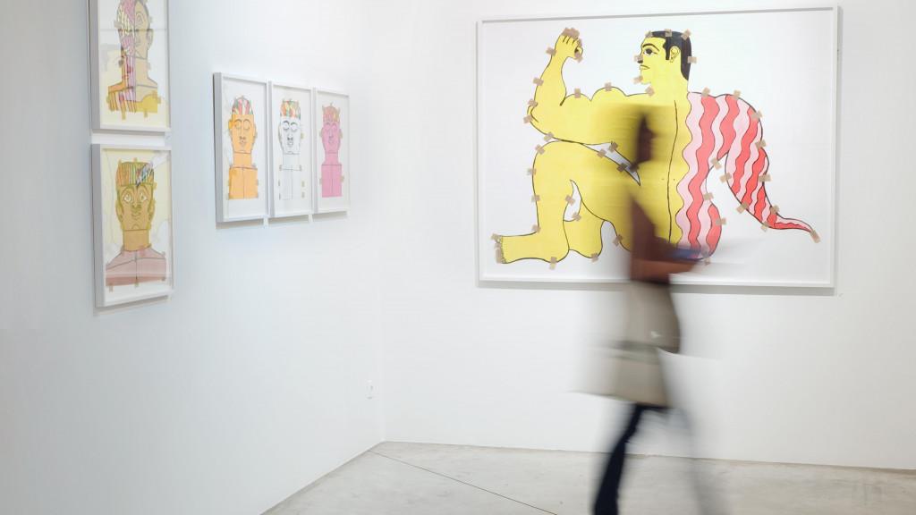 vue de l'exposition *fuerza cubana 2: misleidys & rigo*, christian berst art brut, paris, 2018. - © anaïs docteur, christian berst — art brut