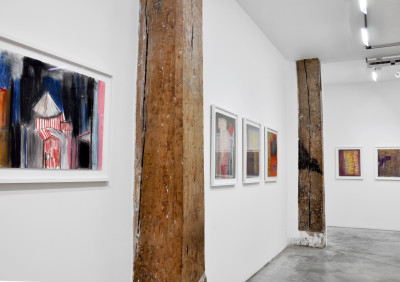exhibition view of *anton hirschfeld : soul weaving*, christian berst art brut, paris, 2018. - © christian berst art brut, christian berst — art brut