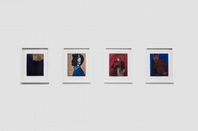 exhibition view of *jose manuel egea : lycanthropos II*, christian berst art brut, paris, 2019. - © christian berst art brut, christian berst — art brut