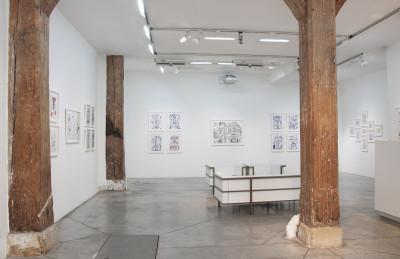 exhibition view of *anibal brizuela : orbo ab chao*, christian berst art brut, paris, 2019. - © christian berst art brut, christian berst — art brut