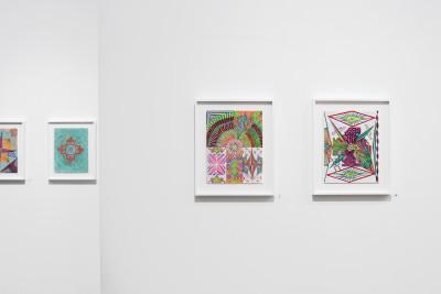 exhibition view of *albert moser : scansions*, christian berst art brut, paris, 2020. - © christian berst art brut, christian berst — art brut