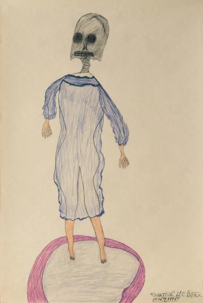 G.C. Deprie, *sans titre*, 1995. crayon de couleur et graphite sur papier, 91 x 61 cm - © christian berst — art brut