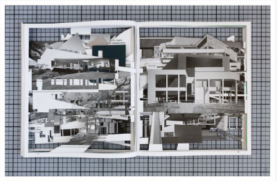 Claudia Larcher, *Ornament is crime (Urban Landscapes series)*, 2019, printed photograph, 15,7 × 24 in. , unique piece - © © Claudia Larcher / Courtesy Galerie 22,48m2, christian berst — art brut