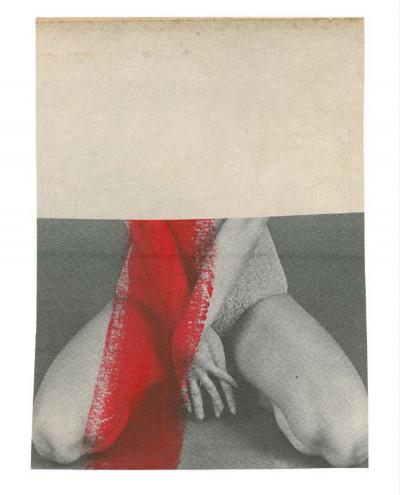 Katrien de Blauwer, *Isabelle (37)*,2019, photographic collage, 3,5 × 4,9 in. , unique piece - © © Katrien de Blauwer / Courtesy Galerie Les filles du calvaire, christian berst — art brut
