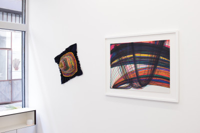 Exhibition view of *the line within the thread*, curator: Baimba Kamara, the bridge by christian berst, Paris, 2021 - © © the bridge by christian berst, christian berst — art brut