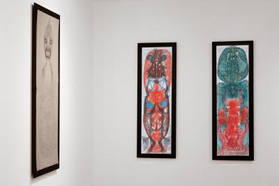 Exhibition view of *Guo Fengyi : a chinese rhapsody*, christian berst art brut, Paris, 2011 - © ©christian berst art brut, christian berst — art brut