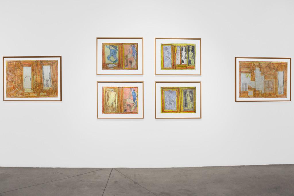 Exhibition view of *Josef Hofer : alter ego*, christian berst art brut, Paris, 2012 - © ©christian berst art brut, christian berst — art brut
