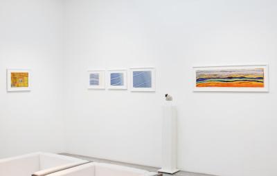 Vue de l'expo *In abstracto #2*, christian berst art brut, Paris, 2020. - © christian berst art brut, christian berst — art brut